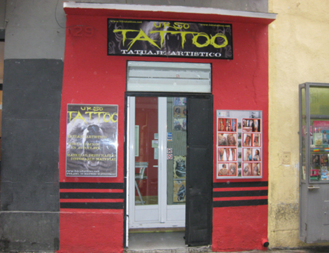 Estudio de tatuajes en Madrid frontal