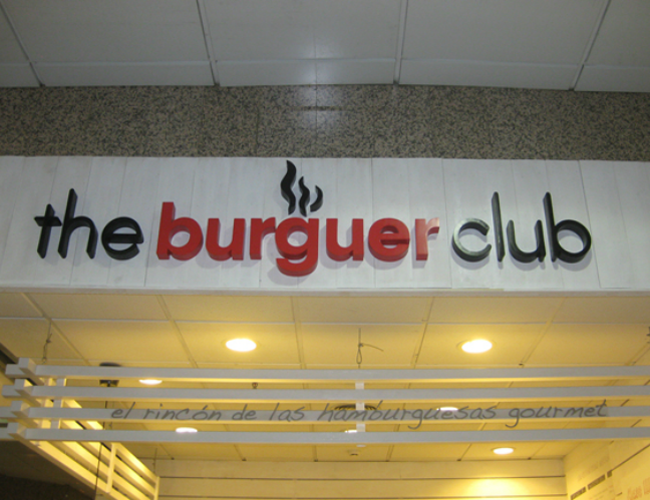 Cartel reclamo The Burguer Club