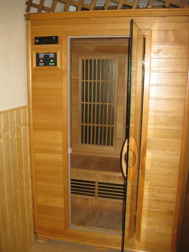 Detalle sauna proyecto gimnasio Triatlon Running