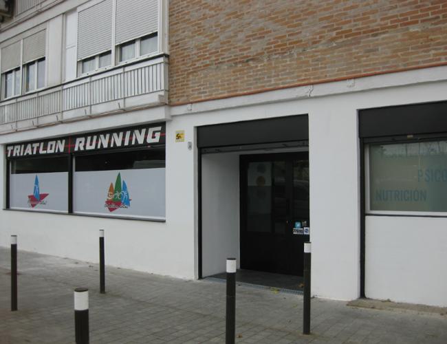 Detalle entrada proyecto gimnasio Triatlon Running