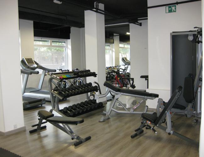 Detalle interior 2 proyecto gimnasio Triatlon Running