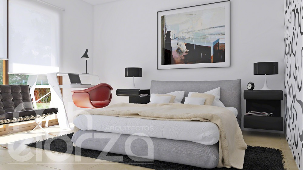 Interiores - Casa pasiva de madera (El Escorial - Madrid)