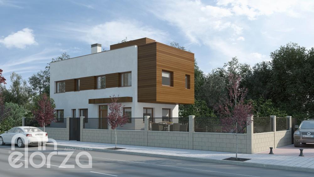 mhelorza vivienda pasiva Madrid San Sebastian de los Reyes - Casas de Madera