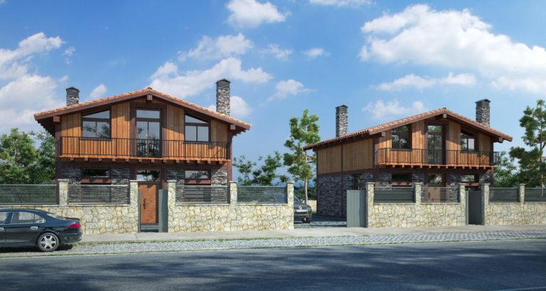 Dos viviendas de madera